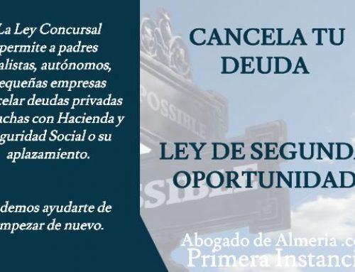 Coronavirus  y Ley de Segunda Oportunidad – Abogado de Almería